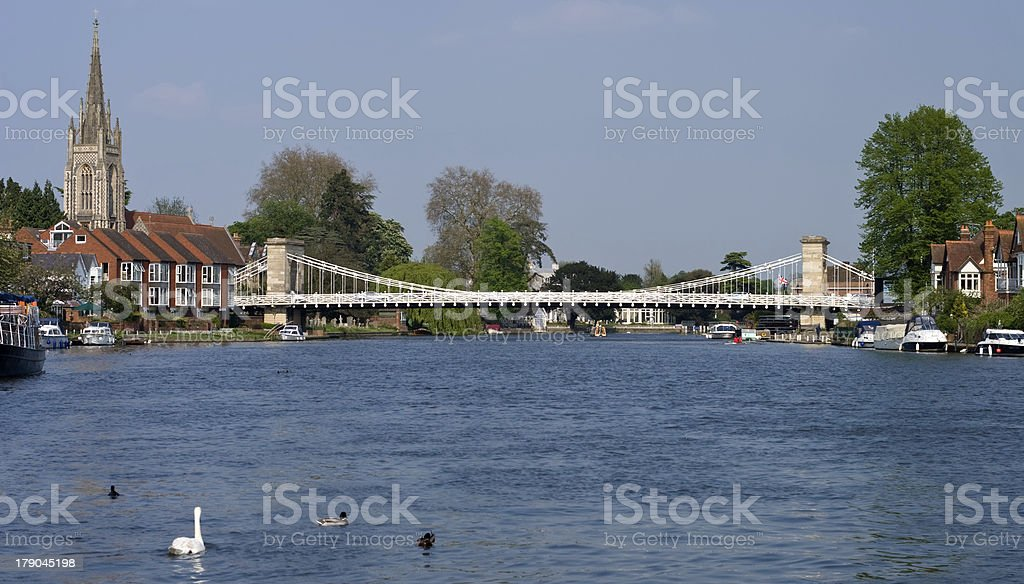 Marlow on the Thames stock photo
