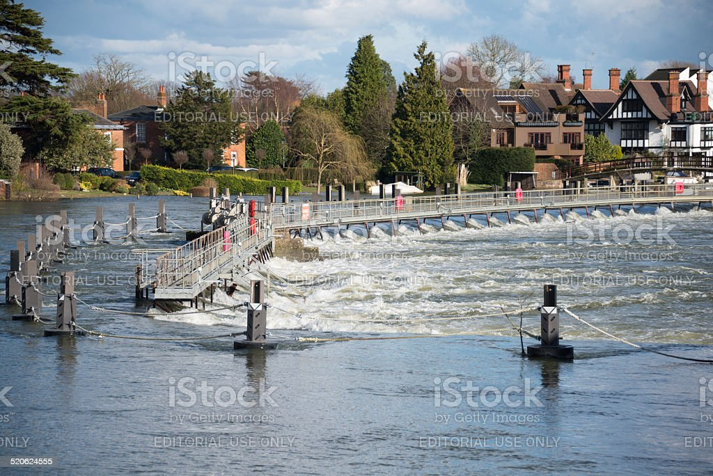 Marlow weir stock photo