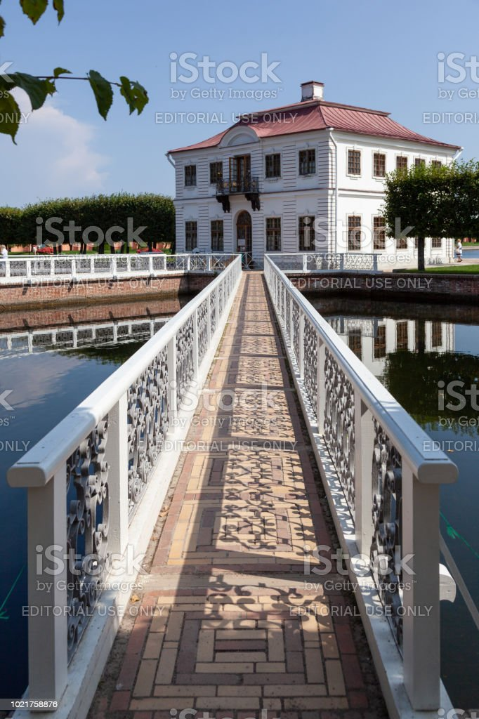 Marly Palace at Peterhof, St. Peterburg, Russia stock photo