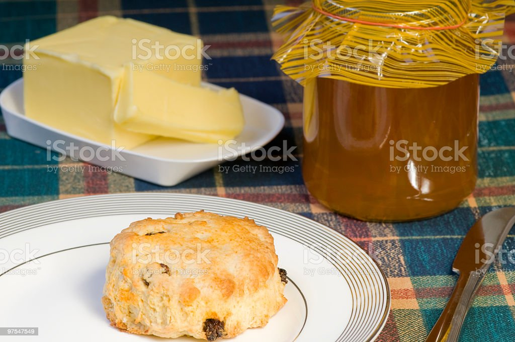 Marmalade and scone royalty-free stock photo