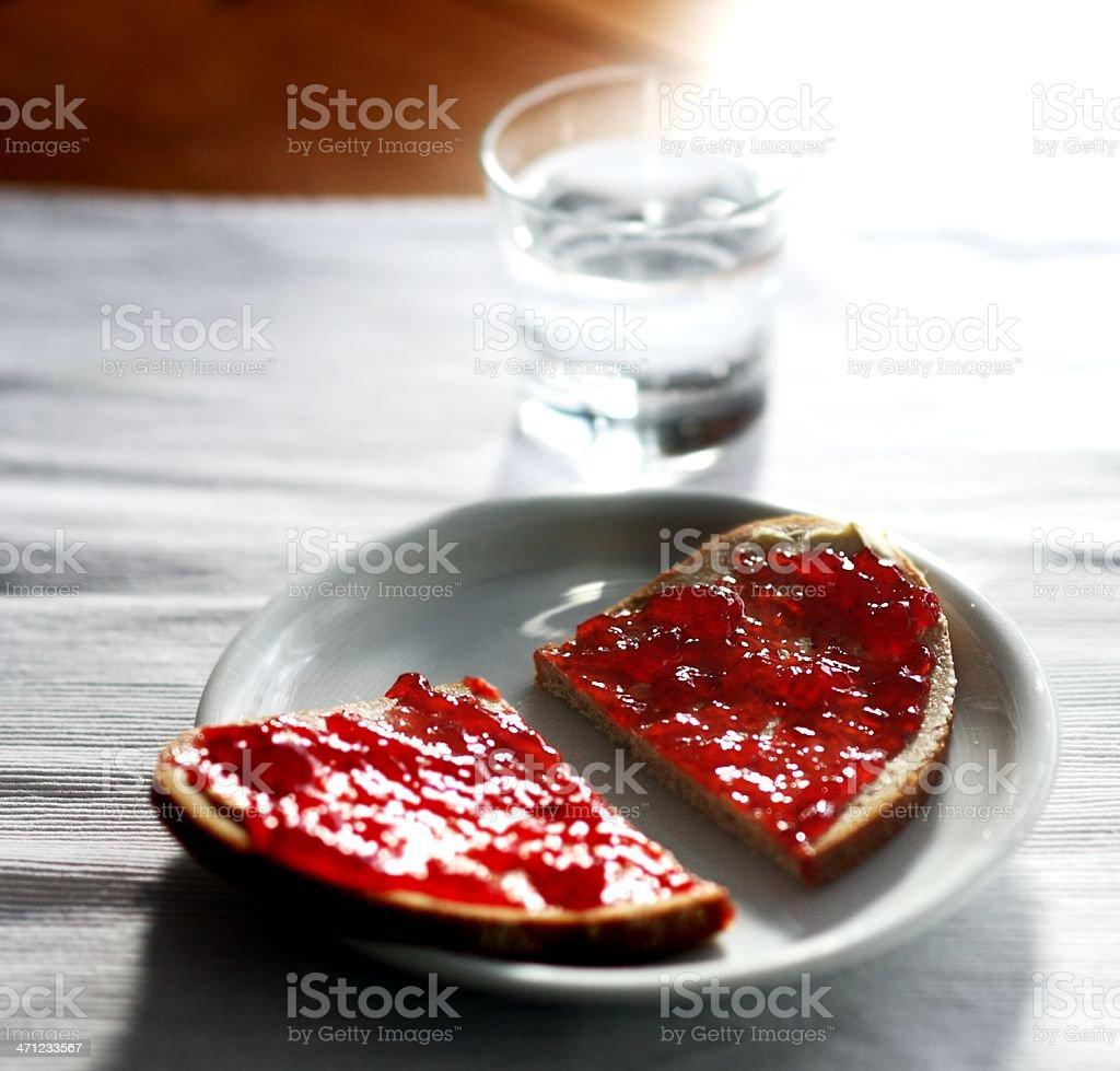 marmalade bread royalty-free stock photo