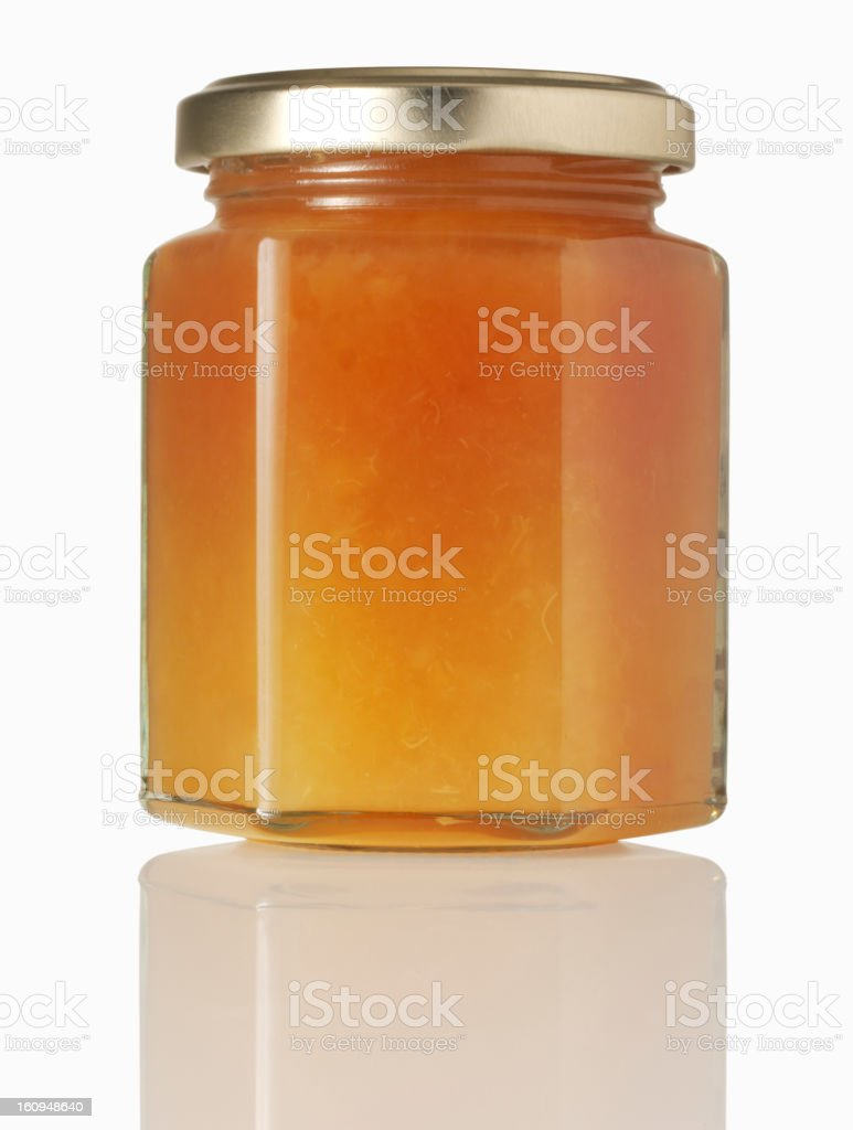 marmalade in jar, isolated royalty-free stock photo