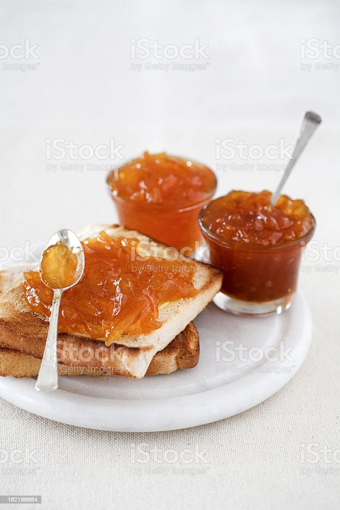 Marmalade on Toast stock photo