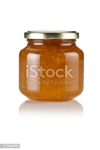 Marmalade Jar Isolated on White Background