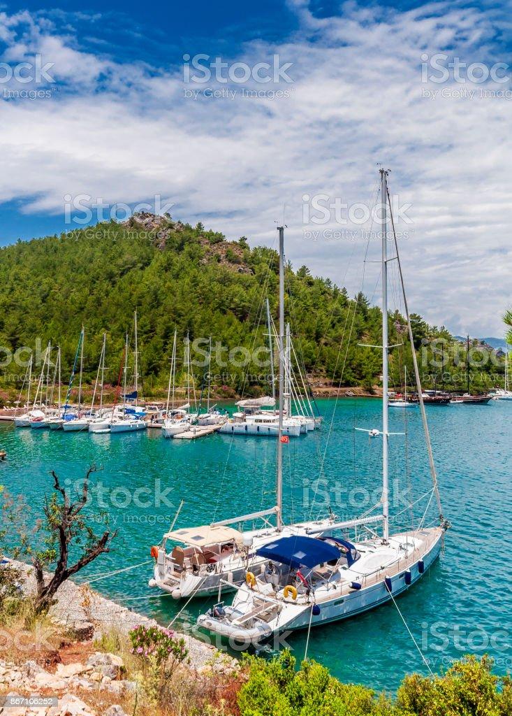 Marmaris Bays in Turkey stock photo