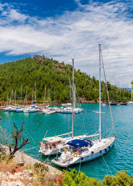 Marmaris Bays in Turkey stock photo