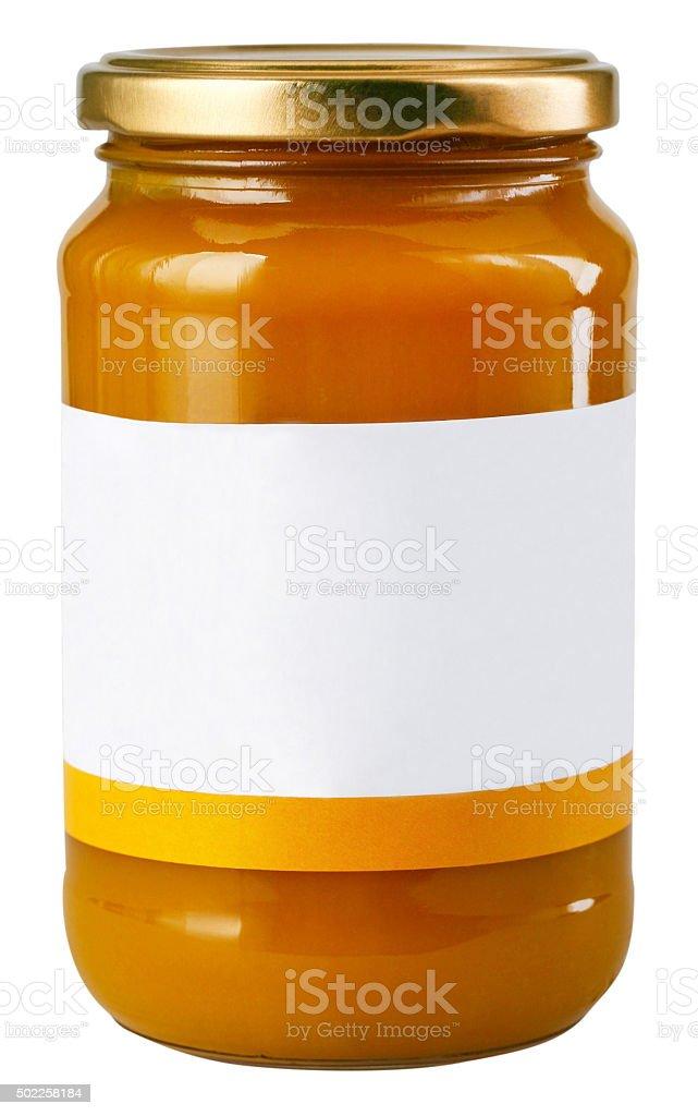 Marmelade jar stock photo