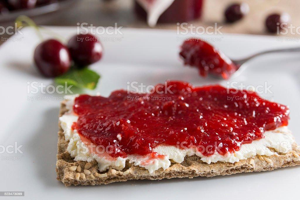 Marmeladenbrot stock photo