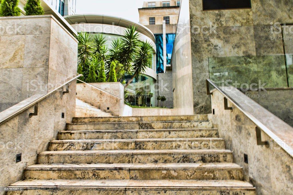 Marmer steps stock photo