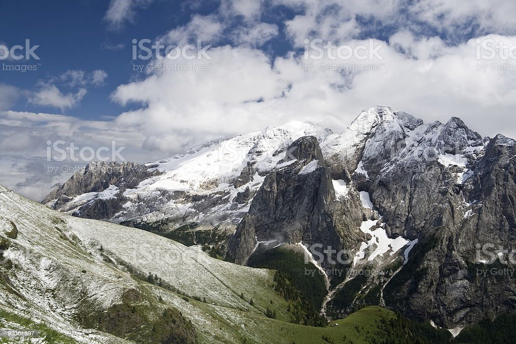 Marmolada  summer snow royalty-free stock photo