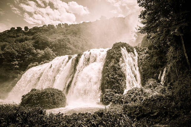 marmore waterfall - bioremediation stock photos and pictures