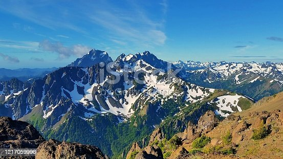 Marmot Pass in Washington's Olympic Mountains offers breathtaking views of jagged peaks and wildlife.