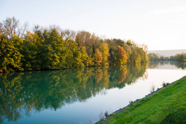 Marne river in France Marne river at fall marne stock pictures, royalty-free photos & images