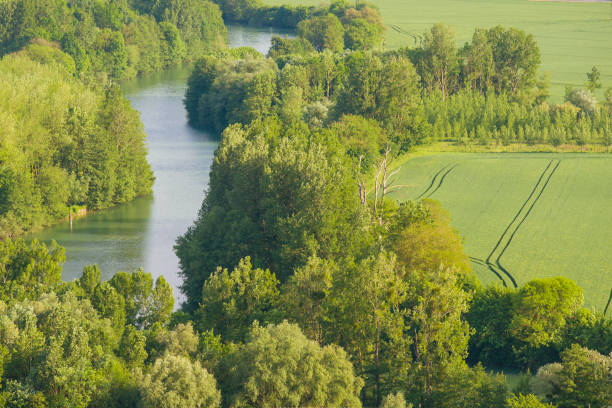 Marne river in France Marne river at fall in the Champagne region marne stock pictures, royalty-free photos & images