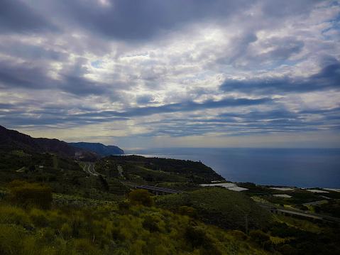 Maro coast landscape from the mountain