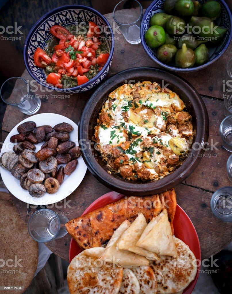 Marocco Tajine dish stock photo