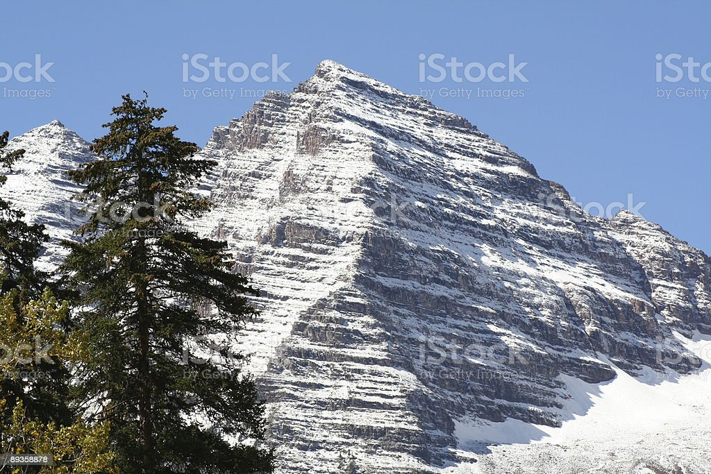 maroon bells and trees royalty free stockfoto