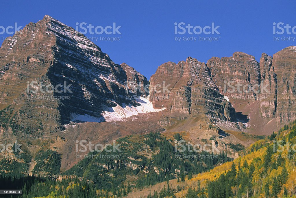 Maroon Bells in autunno foto stock royalty-free