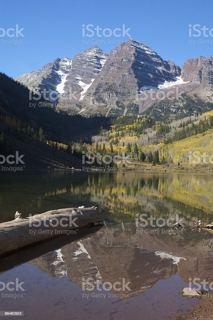 Maroon Bells in Fall royalty-free stock photo