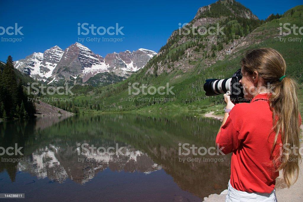 Maroon Bells Photographer stock photo