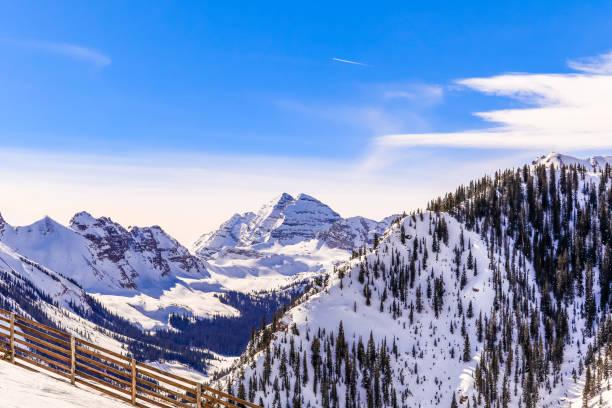 Maroon Bells, Snowmass, Colorado stock photo