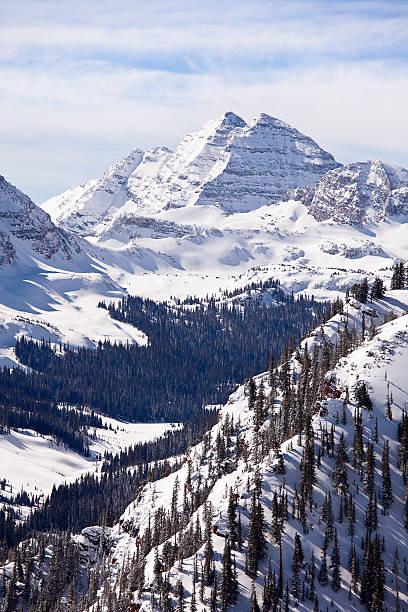 Maroon Bells mit Schnee – Foto