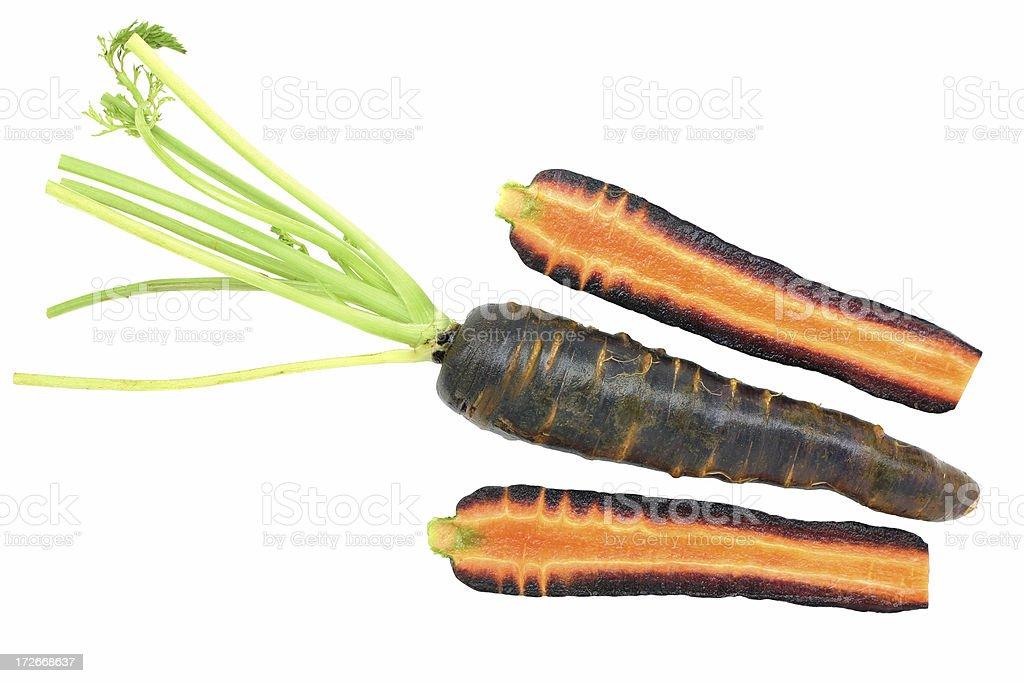 maroon carrots stock photo