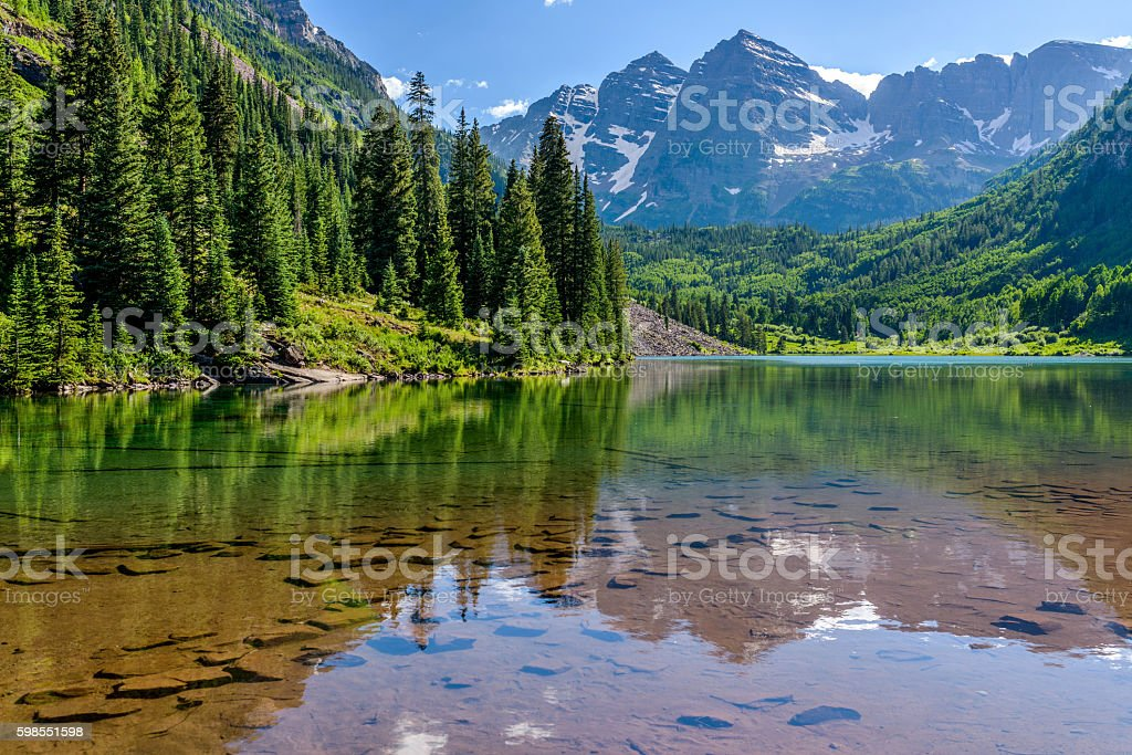 Maroon Lake stock photo