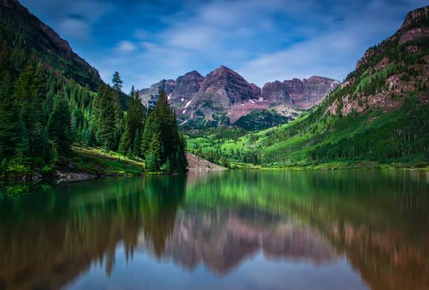 Maroon Lake stock photo