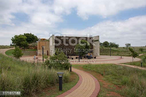 Johannesburg, South Africa - January 20, 2019: Maropeng at the Cradle of Humankind, just outside of Johannesburg in Gauteng