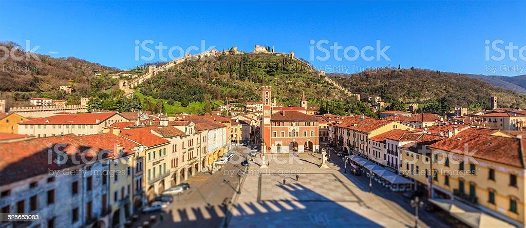 Marostica, Piazza degli Scacchi - Italy stock photo