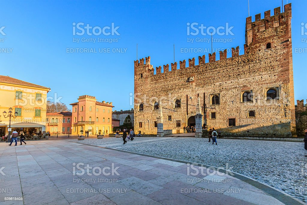 Marostica, The Castle - Italy stock photo