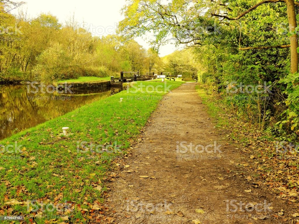 Marple Canal. stock photo