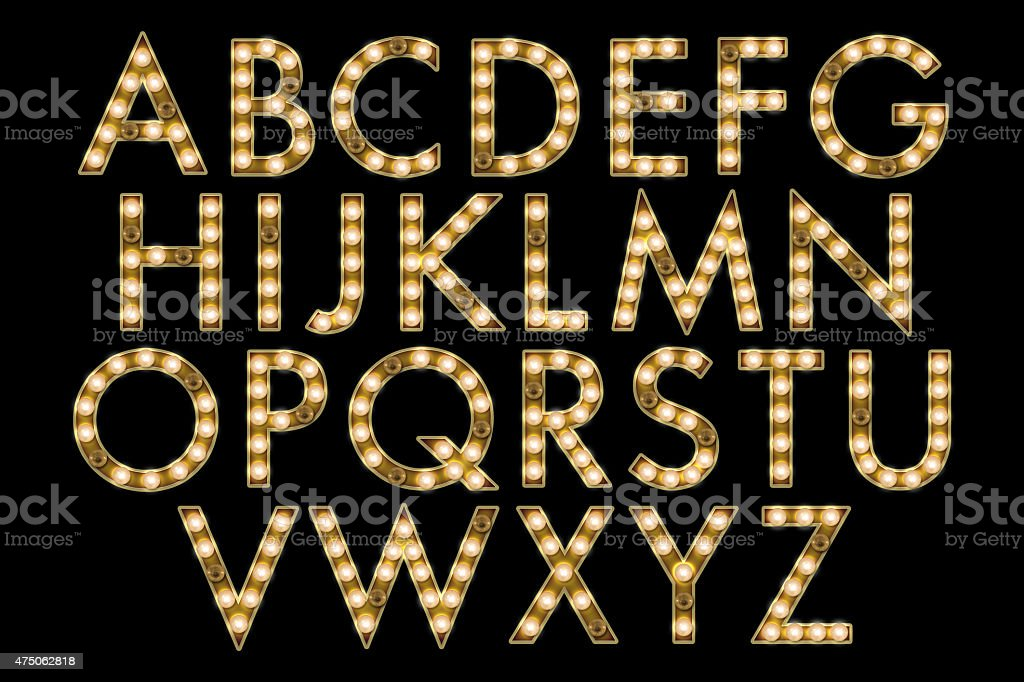 Marquee Light bulb Alphabet Collection stock photo