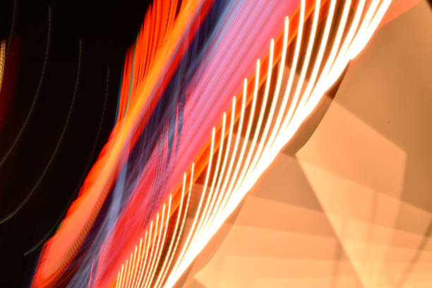 marquee light streak - steven harrie stock photos and pictures