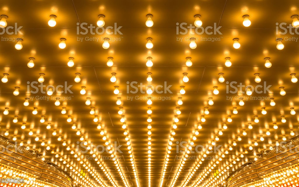 marquee lights stock photo