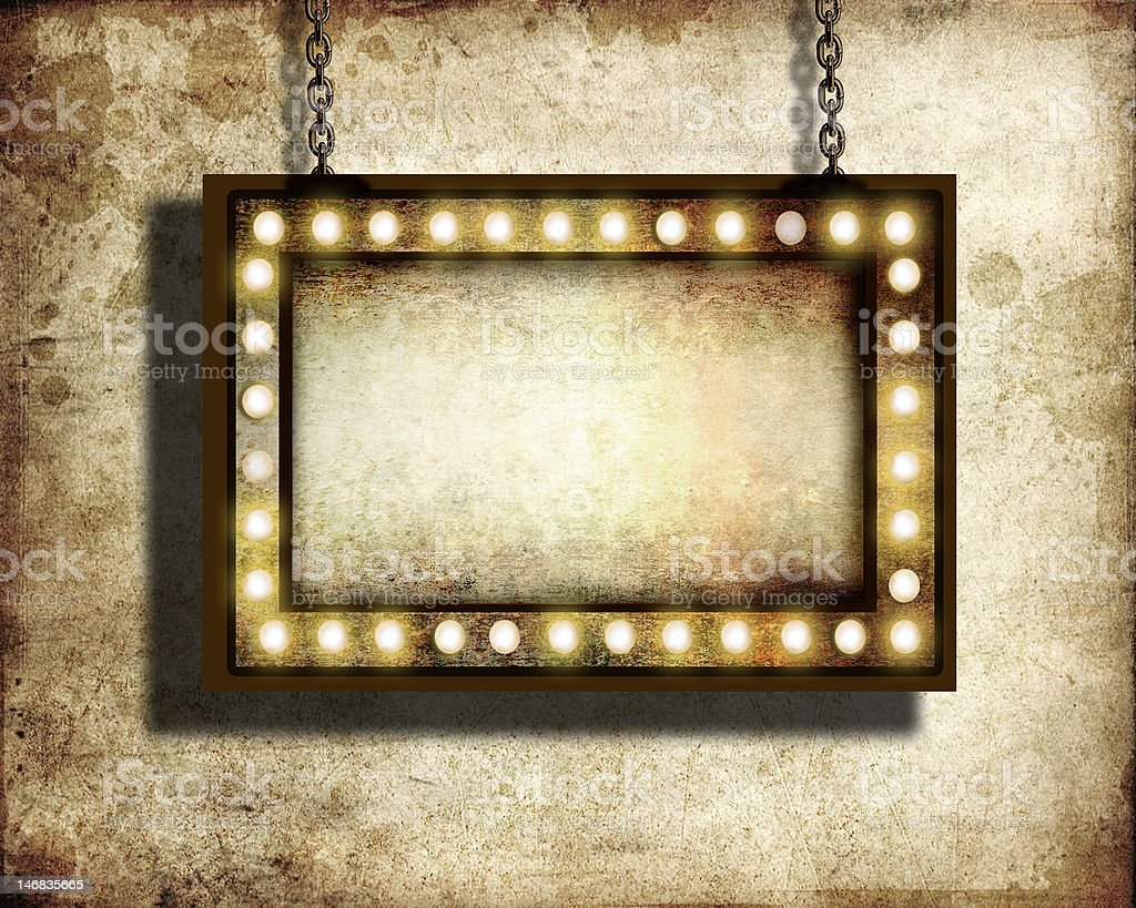 Marquee sign stock photo