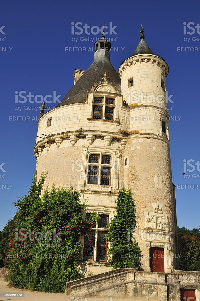 Marques Tower at Château de Chenonceau stock photo