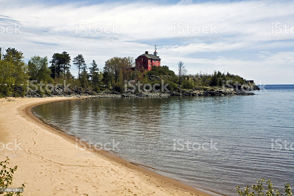 Marquette Harbor Lighthouse stock photo