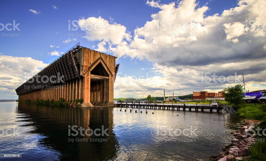 Marquette Michigan Waterfront stock photo
