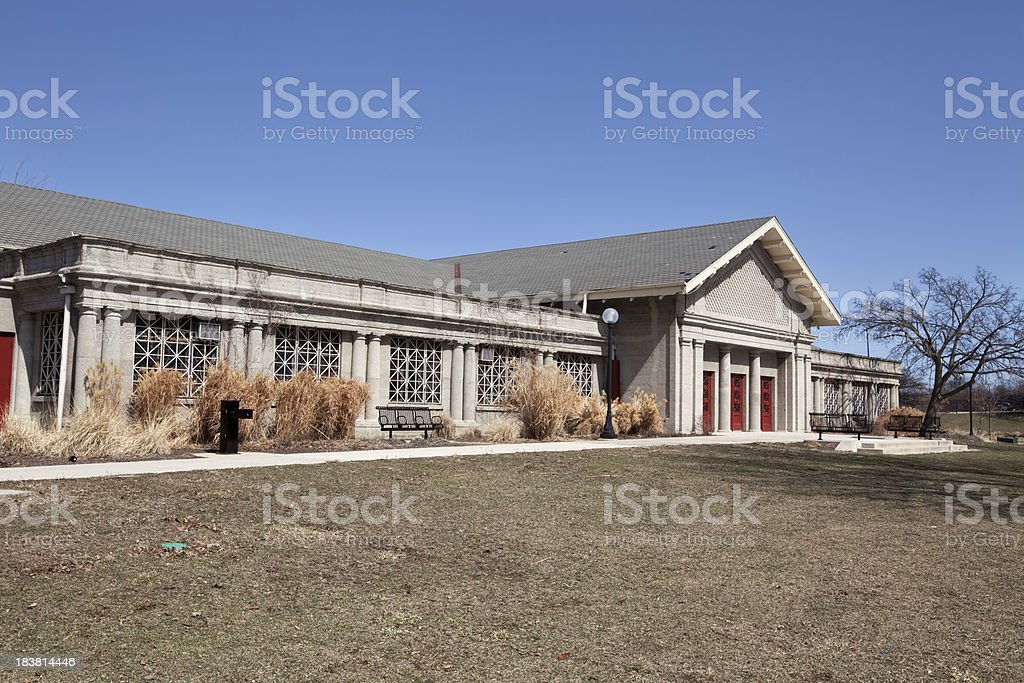 Marquette Park Field House in Chicago royalty-free stock photo