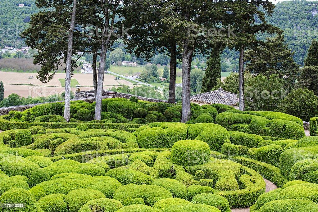 Marqueyssac garden, France stock photo