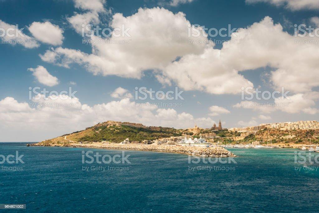 Mġarr Harbour, Gozo Island, Malta royalty-free stock photo