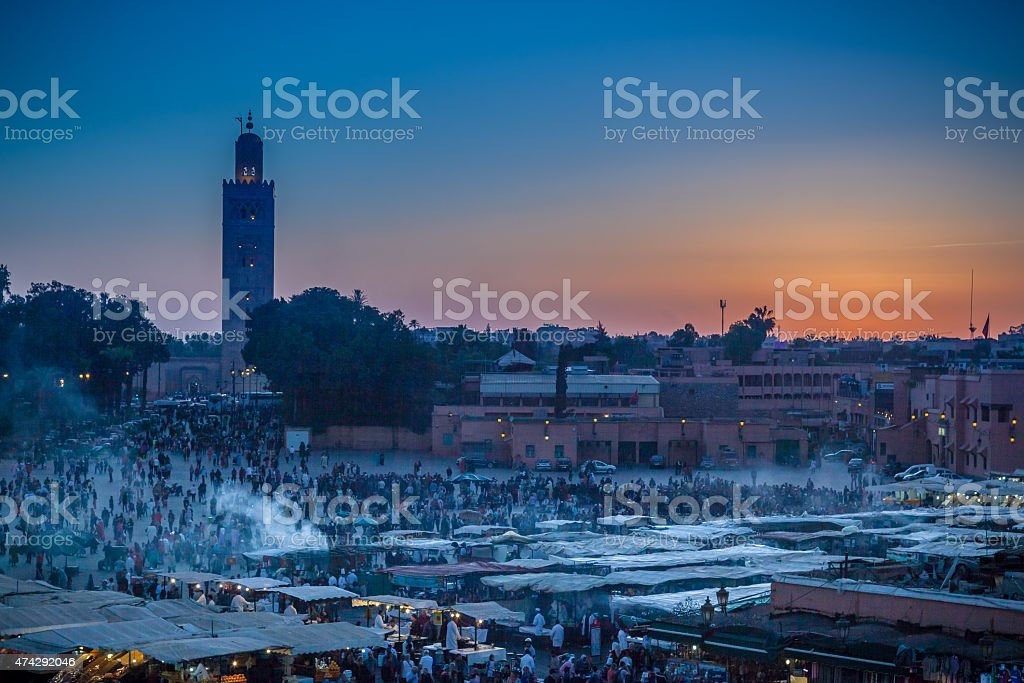 Marrakech At Twilight stock photo
