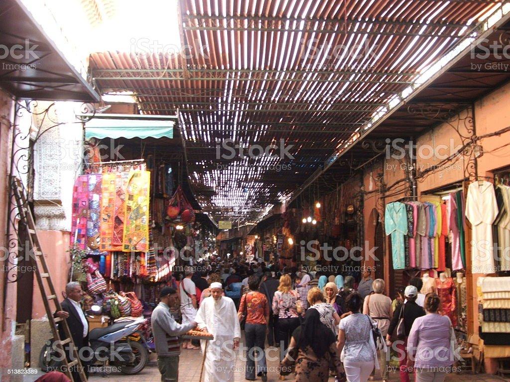 Marrakech Bazaar stock photo