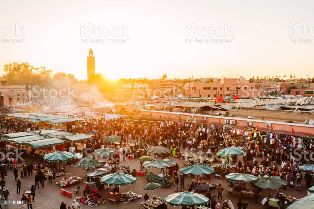 Marrakech -  Djemaa El Fna Square stock photo