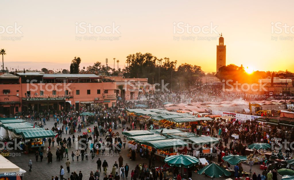 Marrakech -  Djemaa El Fna Square stock photo