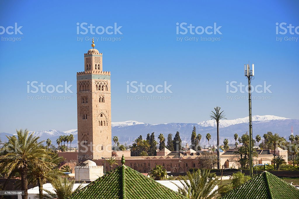 Marrakech Koutoubia Minaret stock photo