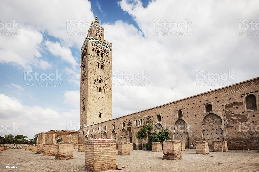 Marrakech Koutoubia Mosque, Morocco stock photo