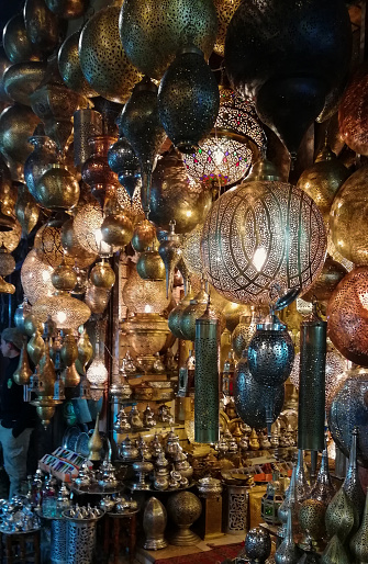994119256 istock photo Marrakech market Morocco shiny lamps 1192661628